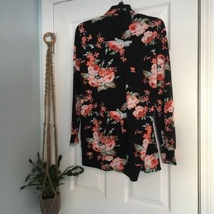 Sweaters - Black floral Buttery Soft Cardigan